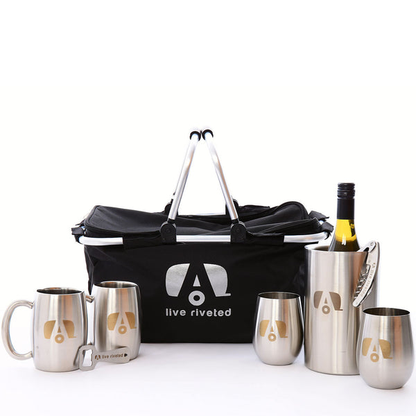 "Airstream ""Live Riveted"" Gift Basket - Airstream Brands"