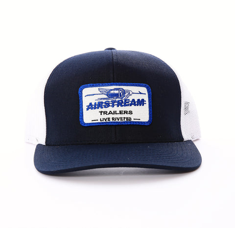 Airstream Name Plate Trucker Mesh Hat - Navy - Airstream Brands