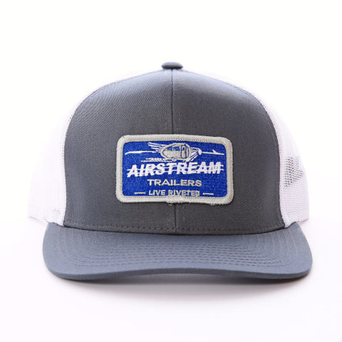 "Airstream ""Name Plate"" Trucker Mesh Hat - Grey - Airstream Brands"