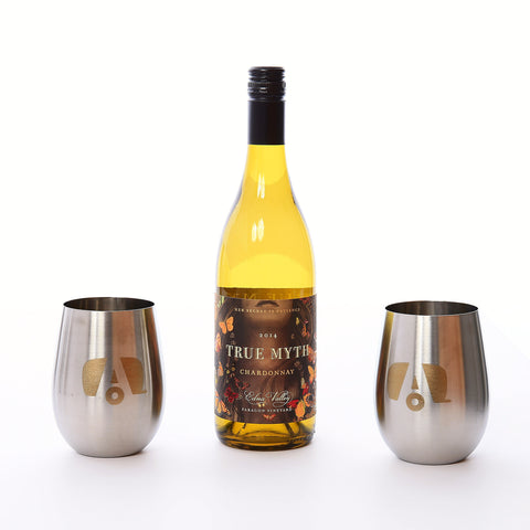 "Airstream Stainless Stemless Wine ""Glass"" with Logo - Airstream Brands"