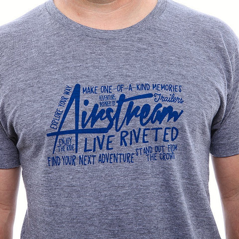 Sale - Airstream Graffiti T-Shirt - Heather Grey - Airstream Brands