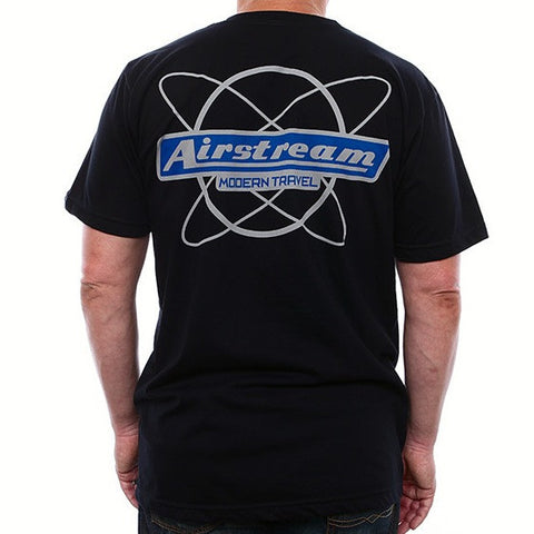 Sale - Airstream Modern Travel T-Shirt - Black - Airstream Brands
