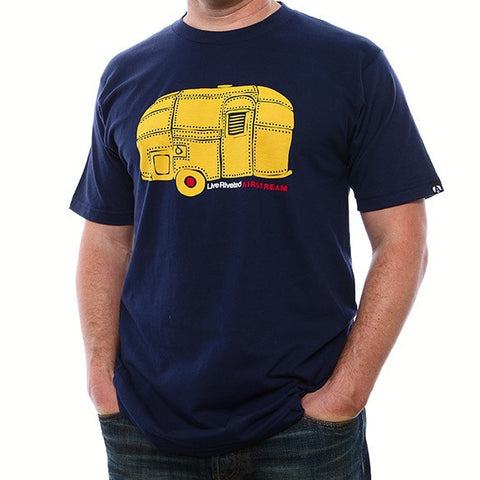 Airstream Rivet Trailer T-Shirt - Navy/Gold - Airstream Brands