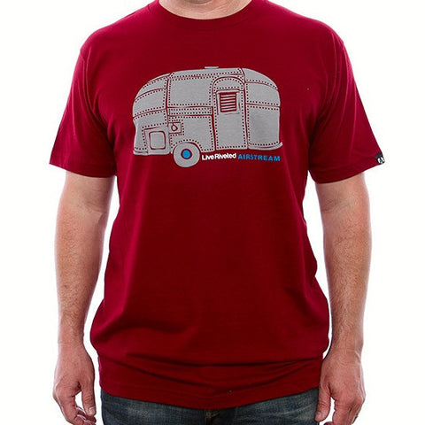 Airstream Rivet Trailer T-Shirt - Red/Grey - Airstream Brands
