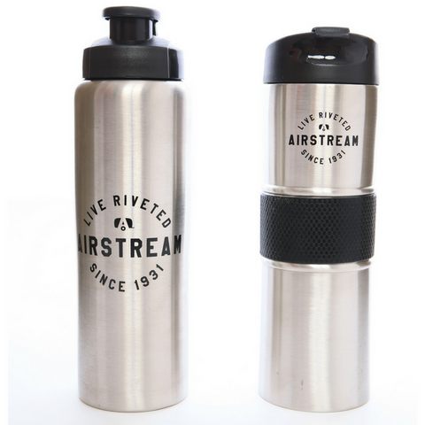"Airstream ""Stainless Steel Water Bottle/Travel Tumbler Set"" - NEW"