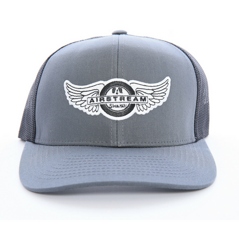 Airstream Tire Wings Trucker Hat - Grey/Black