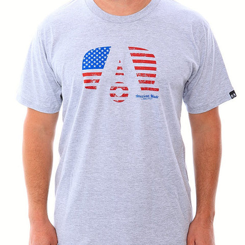 Airstream USA Flag Logo T-Shirt - Heather Grey - Airstream Brands