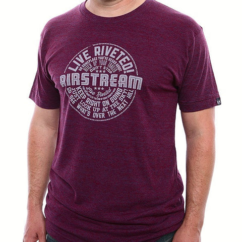 Airstream Wally Says T-Shirt - Cranberry - Airstream Brands