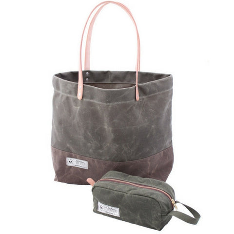 Airstream Rivet Waxed Canvas Tote Bag & Dopp Kit - Airstream Brands