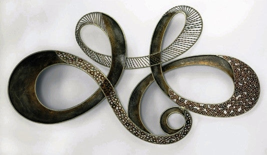 Swirling Ribbon - Metal Wall Decor