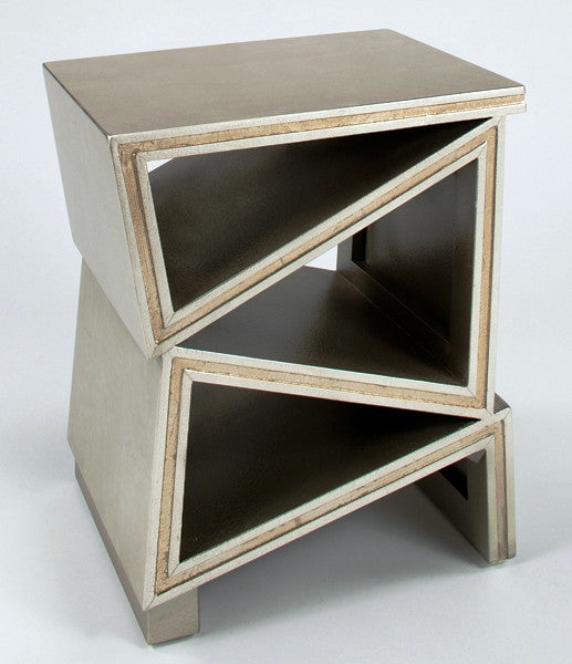 Triangle Cutouts Accent Table