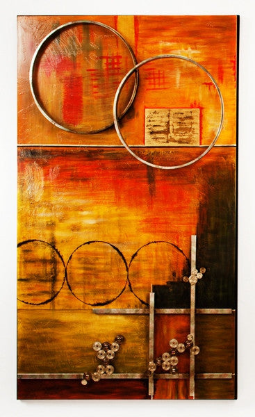 Z- Earth Tones & Circles - Wall Art