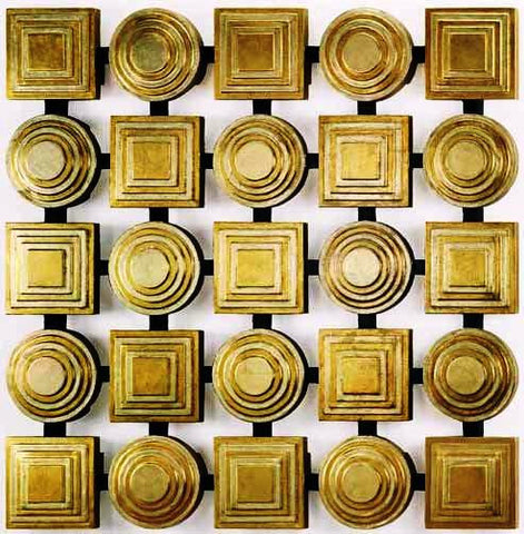 Squares & Circles in Gold
