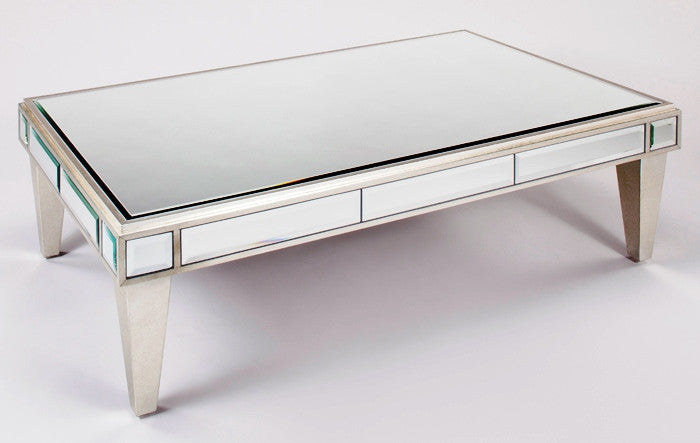 Mirrored Rectangular Cocktail Table