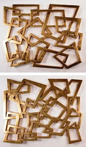 Rectangles in Gold - Set of 2