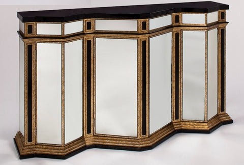 Mirrored 4-Door Cabinet
