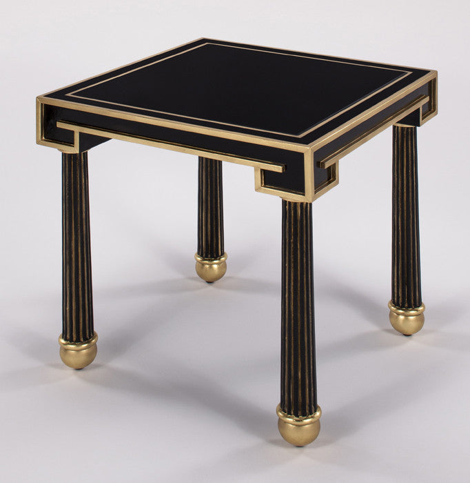 Black N Gold Accent Table