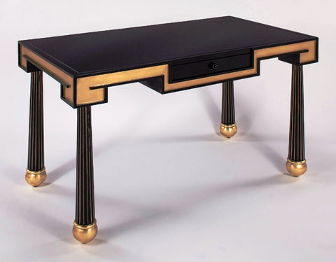 Black N Gold Wood Desk
