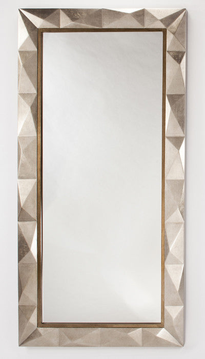Taupe Shimmer Floor Mirror