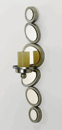 Mirrored Circles N Ovals Wall Candle Holder