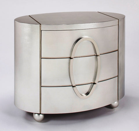 Silver Oval Cabinet