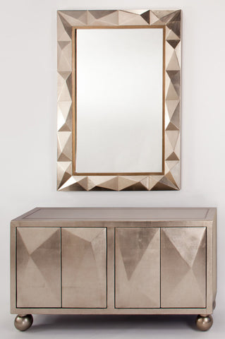Taupe Shimmer Mirror