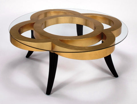 Golden Cutouts Cocktail Table