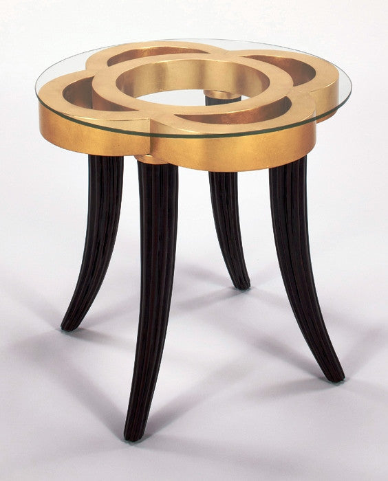 Golden Cutouts Accent Table