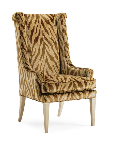 Animal Print High Back Chair