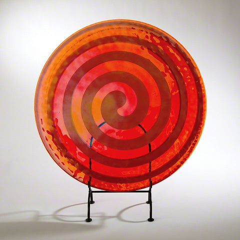 Spiral Flat Plate-Clear/Red/Orange