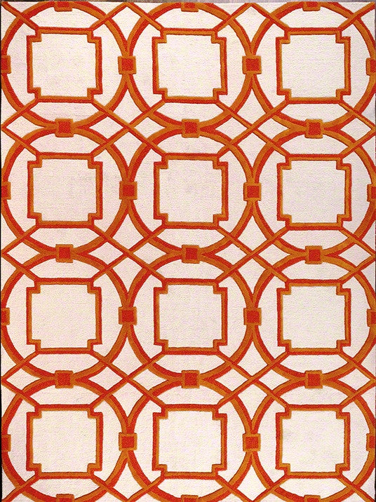 Arabesque Rug - Coral