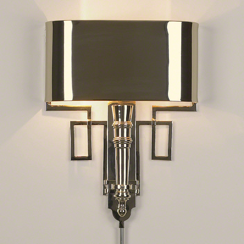 Torch Sconce w/Shade - Nickel
