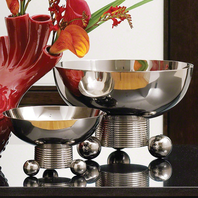 Double Ball Bowl-Nickel-Lg