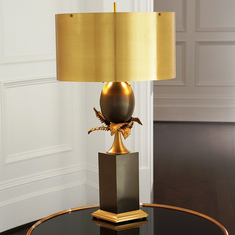 Z - Egg and Palm Lamp - Brass/Bronze
