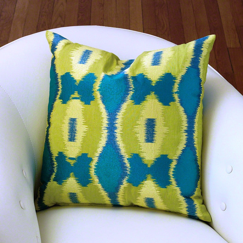 Ikat Pillow-Peacock
