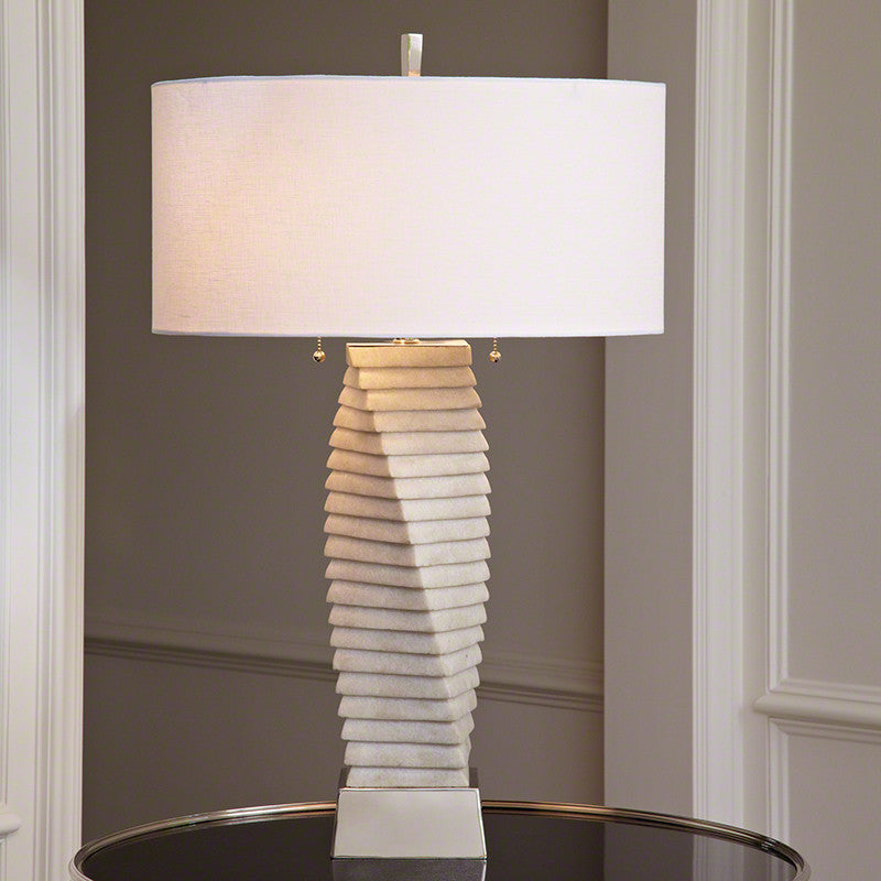 Twisted Marble Lamp