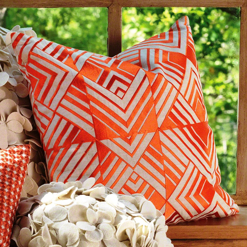 Coral Chevron Pillow