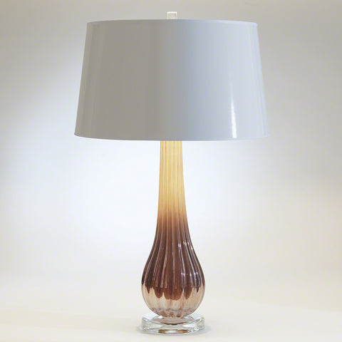 Amber Ridge Art Glass Lamp