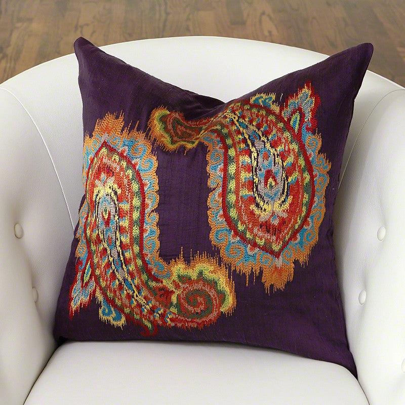 Ikat Paisley Pillow