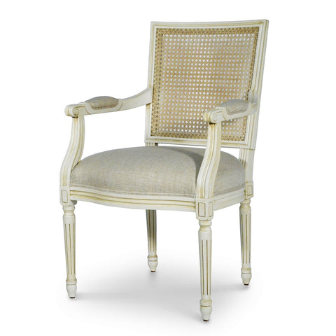 Lyon Cane Square Back Arm Chair