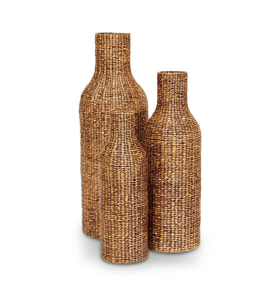 RIB WEAVE BOTTLE URNS - SET OF 3