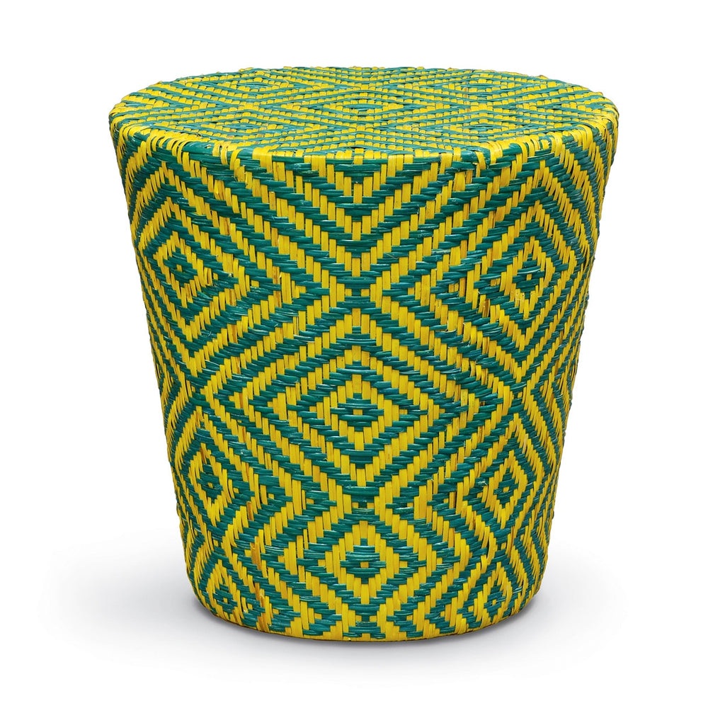 Woven Rattan Tapered Round Stool/Table