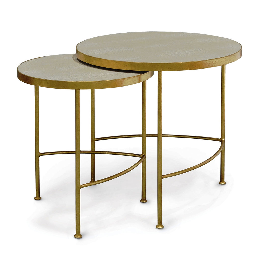 Olivia Shagreen Nesting Tables - S/2