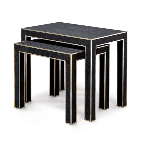 Harlow Shagreen Nesting Tables - Set of 2