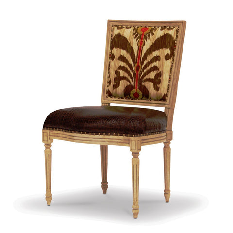 Lyon Square Back Side Chair  - Tribal Brown