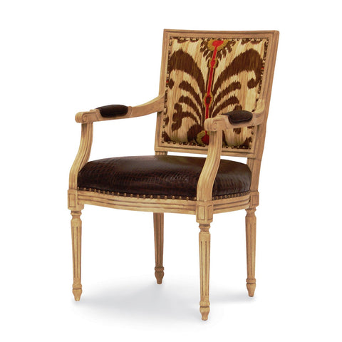 Lyon Square Back Arm Chair  - Tribal Brown