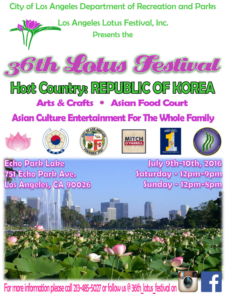 36th LOTUS FESTIVAL - Echo Park, Los Angeles