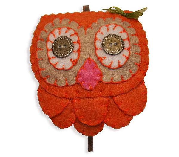 Headband - Owl (Orange)