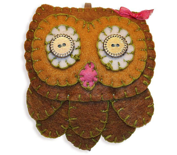 Headband - Owl (Brown)