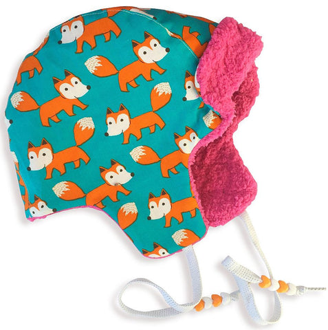 Bomber Hat w/Beads - Fox